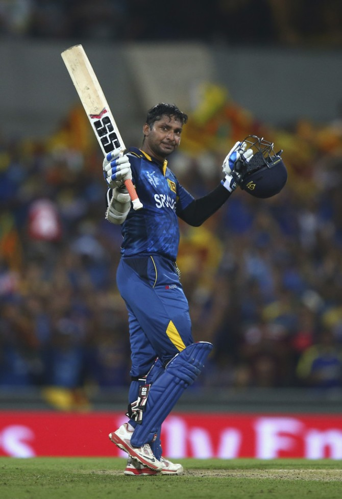 Sangakkara scored his third consecutive hundred
