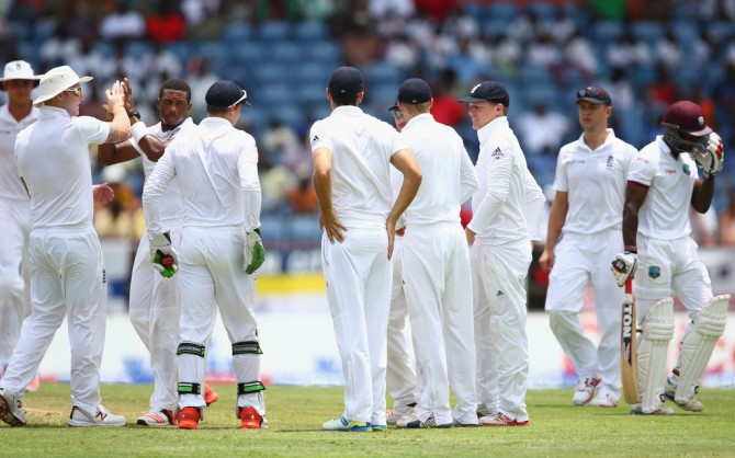 England were all over the West Indies for a majority of the day