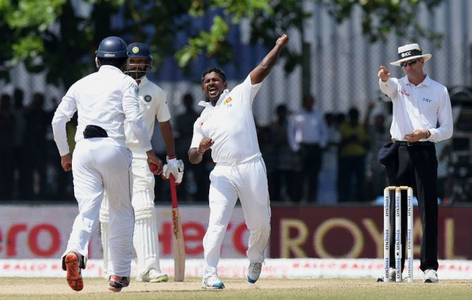 Herath finished with figures of 7-48 off 21 overs