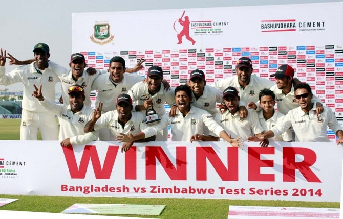 Bangladesh whitewashed Zimbabwe 3-0 during their last Test series in October-November 2014