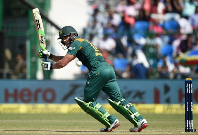 Du Plessis' excellent form with the bat continued