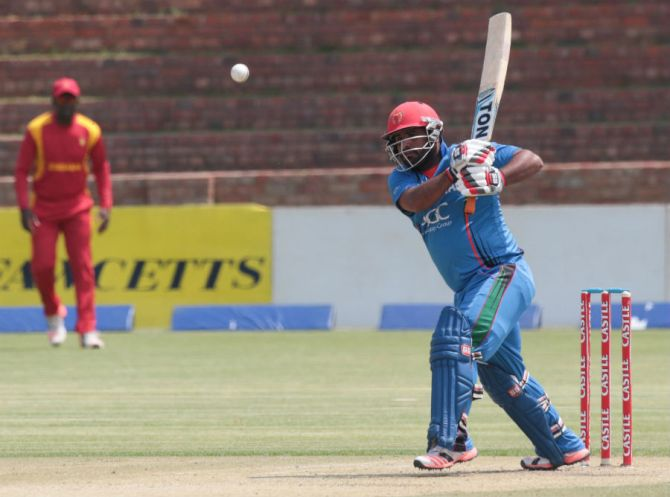Shahzad hit seven boundaries and three sixes during his knock of 80