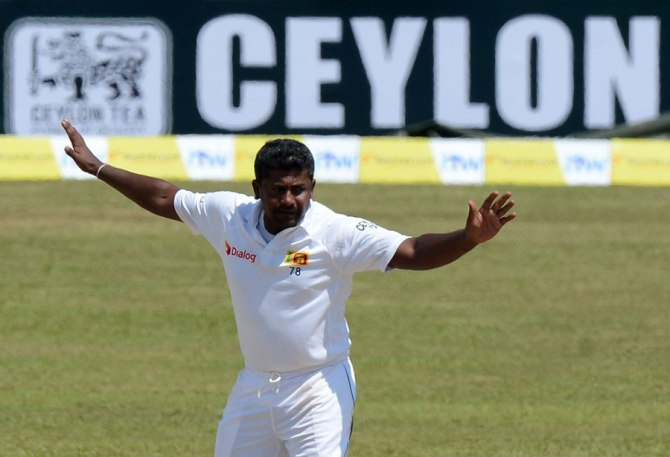 Herath finished with figures of 4-79 off 22 overs