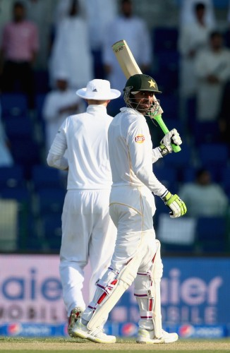 Malik scored his third Test century in his first Test match since August 2010