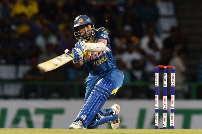 Dilshan hammered eight boundaries during his innings of 56