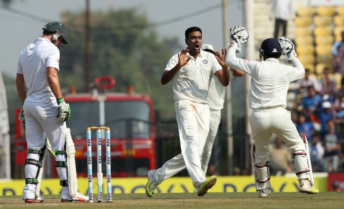 Ashwin finished with career-best figures of 7-66 off 29.5 overs