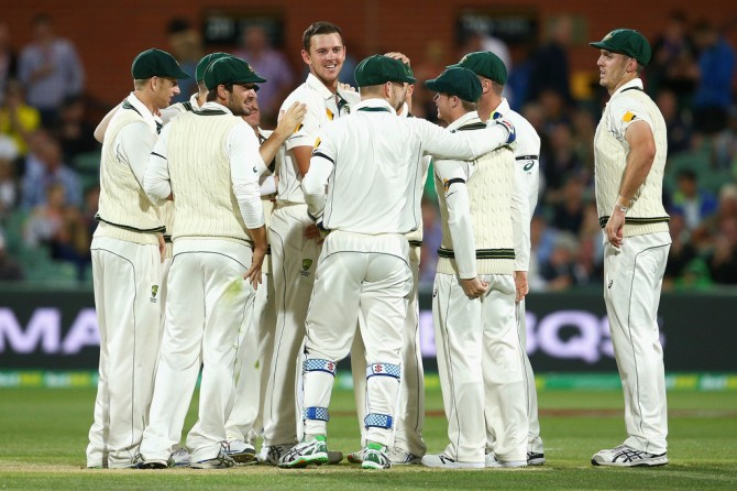 Hazlewood dismissed Guptill, Latham and Taylor