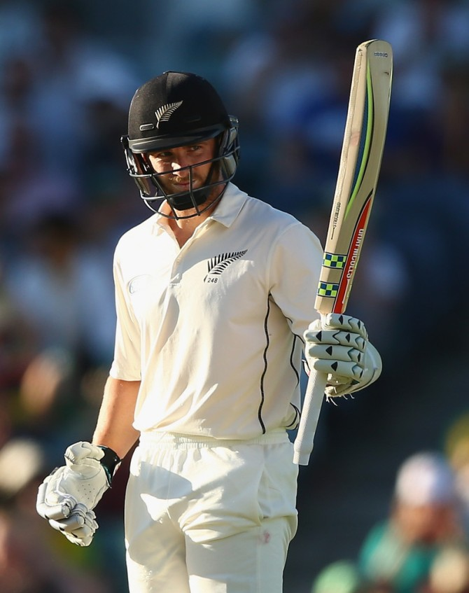 Williamson scored his 17th Test fifty