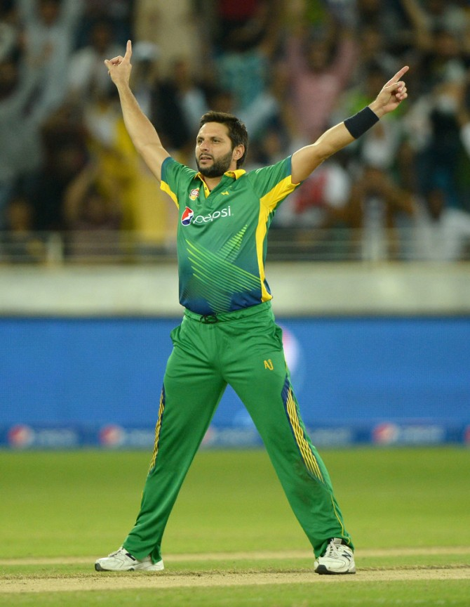 Afridi overtook Ajmal as the highest wicket-taker in Twenty20 Internationals