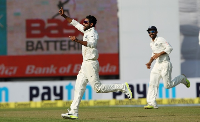 Jadeja finished with figures of 5-30 off 12 overs