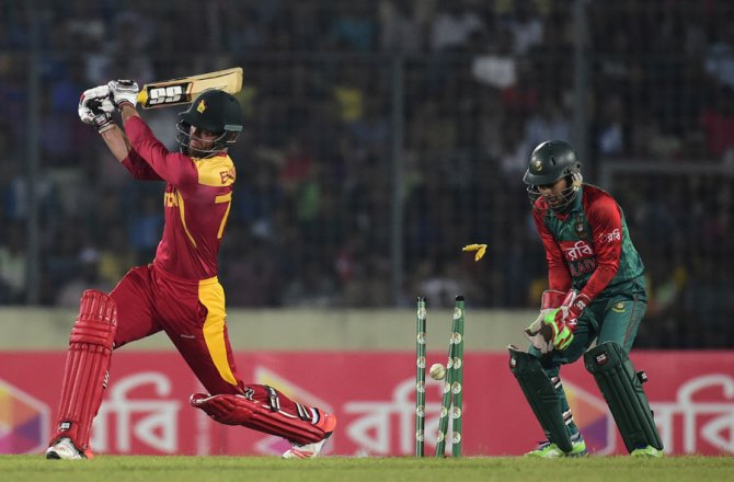 Bangladesh and Zimbabwe played a two-match Twenty20 series in November