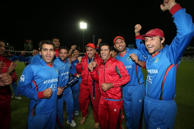 Afghanistan are all smiles after beating Zimbabwe 3-2