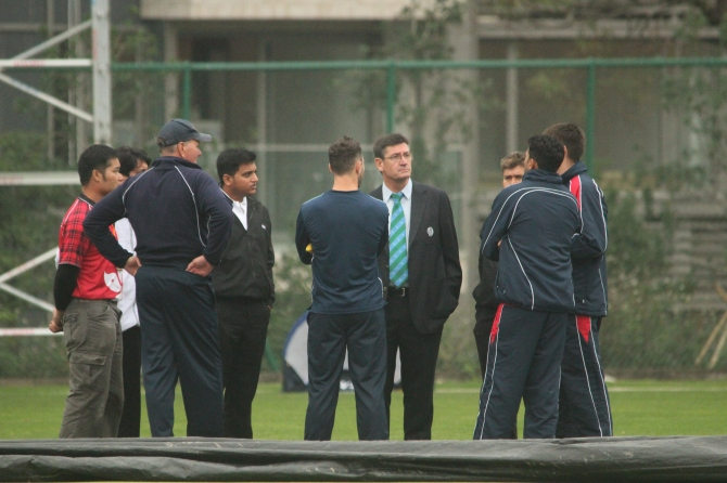The umpires and match officials decided to call off play at 2.30pm