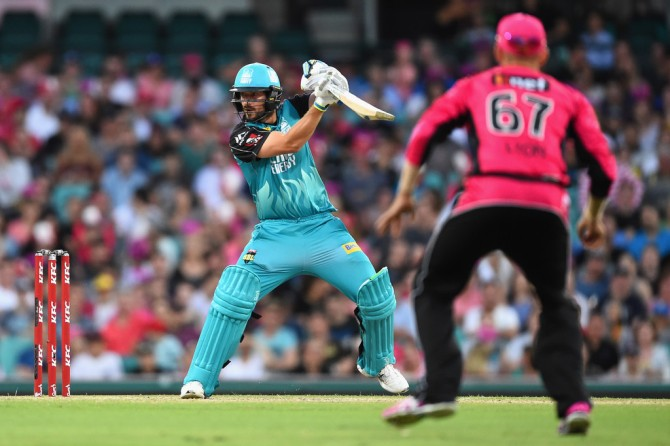 Burns struck three boundaries and three sixes during his innings of 60