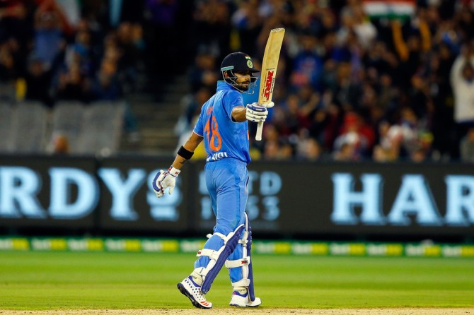 Kohli struck seven boundaries and a six during his unbeaten knock of 59