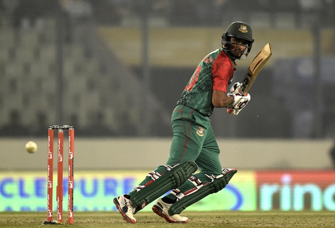 Mahmudullah was named Man of the Match for his all-round performance