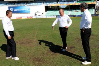 The damp, soft outfield had the final say