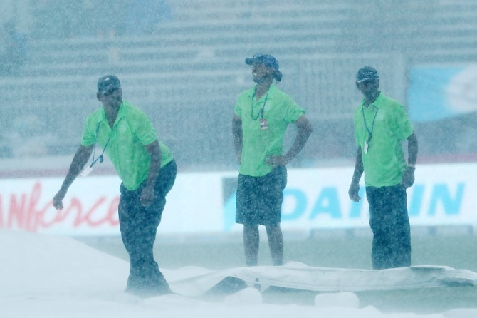 Heavy rain led to the match being abandoned