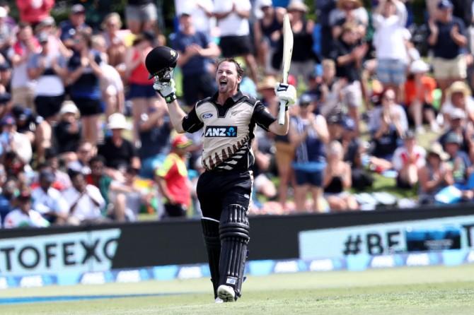 Munro is ecstatic after scoring his maiden Twenty20 International century