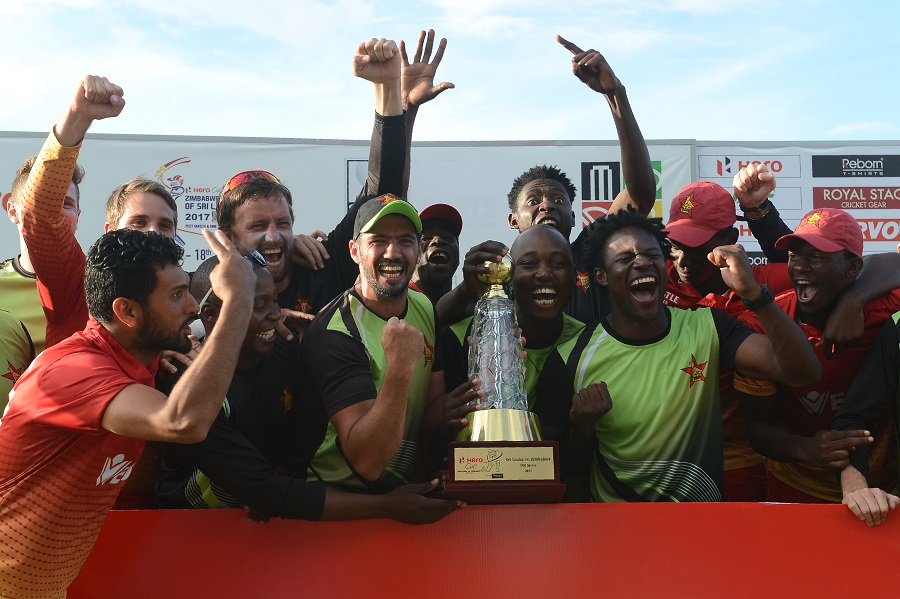 Zimbabwe survive collapse to seal historic win in Sri Lanka